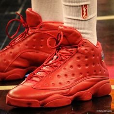 194f2bb953ef Lynetta Kizer s  All Red  Air Jordan 13 Retro