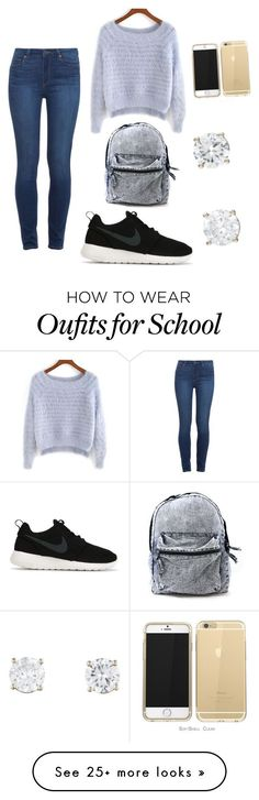 """""""School outfit"""" by neema25 on Polyvore featuring Paige Denim and NIKE"""