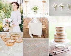 Kupfer und Weiß Kombination für Hochzeit