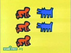 Animator Bill Davis created a series of short animations for Sesame Street that featured the iconic art of Keith Haring after the artist's death in via Boing Boing Third Grade Art, Art Bin, Keith Haring Art, Art Videos For Kids, Art Worksheets, Kindergarten Art, Art Lessons Elementary, Arts Ed, Elements Of Art