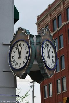 Clock downtown Kokomo, Indiana by the Palmer's jewelry store.
