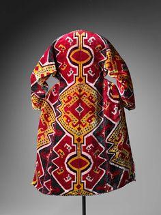 Woman's ceremonial coat (munisak), c. 1850-1900, Bukhara, Uzbekistan.