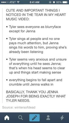 jenna is awesome. i figured out that when she beats up Tyler, she's really defeating blurryface.