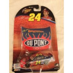 2004 NASCAR Winner's Circle . . . Jeff Gordon #24 Dupont Chevy Monte Carlo 1/64 Diecast . . . Includes 1/24 Scale Hood  Features : 2004 Jeff Gordon #24 Dupont Looney Tunes Back in Action Chevy #Monte #Carlo Paint Scheme 1/64 Scale #Winners #Circle With Bonus Matching Magnet Hood *Hood and Trunk DO NOT open