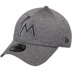 d698330a61b93 Men s Miami Marlins New Era Graphite 2018 Clubhouse Collection Classic  39THIRTY Flex Hat
