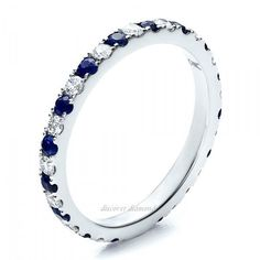 1.00 Ct DIAMOND & BLUE SAPPHIRE SOLITAIRE SOLID 14 K WHITE GOLD ENGAGEMENT RING #DiscoverDiamond #Solitaire