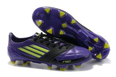 lowest price 39177 28aad Adidas F50 Adizero miCoach Messi VI Kangaroo leather Purple Black TRX FG  Football Shoes, Black