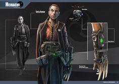 Samurai Cyberpunk, character,Heihachi, Cyborg