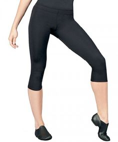 beae1c28e3647f Capezio Women's Team Basics Crop Pant Black Extra Small TB120 Leg Machines,  Dance Shorts,
