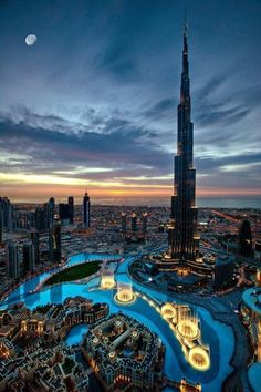 Burj Khalifa, Dubai. Go to the top of the skyscraper burj khalifa legal 163 to be over the clouds