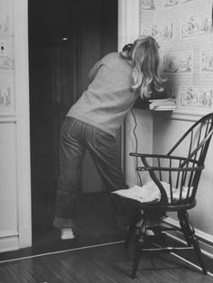 Teenage Girl Talking on the Telephone