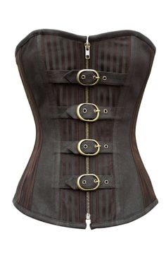 Brown Striped Corset with Buckles | Corsets 99$ 3 for 2