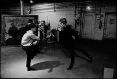 Larry Latreille and Edie Sedgwick dancing at the Factory, NYC, 1965