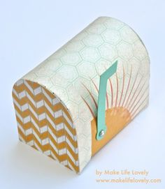 Happy mail is on it's way with this Sunshine Mailbox by Laura Russell! We love the bright vibrant look of this adorable box, and can only imagine the many ways we would use this in our own home!