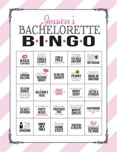 Bachelorette Party-Spiel: Bingo-Wagen Blatt von SweetBeeShoppe