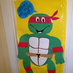 Pin the Mask on The Ninja Turtle: Adorable used for our 4yr Old
