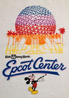 vintage #80s disney world epcot center t shirt adult child mickey mouse sz 34 evc from $22.5