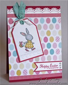 'egg' paper from the 'Birds of a Feather' DSP,  Everybunny Stamp Set