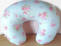 Shabby chic floral Boppy cover. Light pink minky backing.  Perfect for your baby girls nursery!  Zipper opening for a quick and easy way of putting