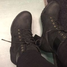 For Sale: Timer land Black Boots  for $150