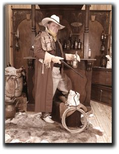 Saloon Cowboy of the Old West - photo taken by Miss Purdy's Old Time Photos serving the entire State of Texas!