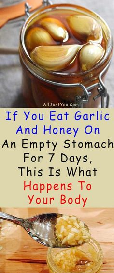 If You Eat Garlic And Honey On An Empty Stomach For 7 Days, This Is What Happens To Your Body #health #fitness #beauty #diy #garlic #stomach