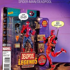 Loving This Marvel Spider-Man/Deadpool # 1 Action Figure Variant Cover.  #spiderman #deadpool #marvel #comics #variant #actionfigures #toys #FLYGUY #twitter #googleplus