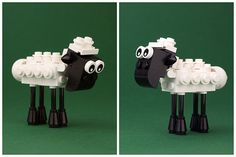 Shaun the Sheep - on LEGO ideas :: Other MOCs. Meet Shaun the Sheep and his friends from the Mossy Bottom farm. Lego Duplo, Lego Technic, Lego Disney, Lego Minecraft, Minecraft Skins, Minecraft Buildings, Lego Design, Lego For Kids, Diy For Kids
