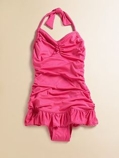 Juicy Couture Toddler's & Little Girl's Ruffled One-Piece Swimsuit