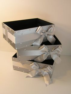 Wedding  Program Box Amenities Box Bathroom Accessories Box handkerchiefs Box - Customize your color