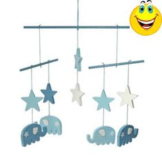 #manythings #Wooden mobile #with 4 elephants and 2 stars