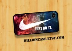 Just Do It Nike Case - iPhone 4 Case iPhone 5 Case iPhone 4s Case idea case Galaxy Case Unique case. $16.00, via Etsy.
