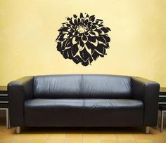 Tattoo Idea Dahlia Flower, Dahlias, Studio Ideas, Vinyl Wall Decals, Home Furnishings, Wall Decor, Retail, Decorating, Tattoos