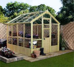 Wooden Green House...In love would love to have one of these....sigh someday you will be mine!  lol