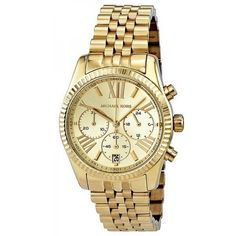 2bf993bedc1b Michael Kors Lexington Chronograph Gold PVD realized a gold PVD stainless  steel case which linked by stainless steel bracelet as well