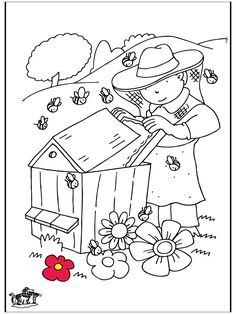 pictures for painting! Bee Pictures, Pictures To Paint, Daycare Crafts, Preschool Crafts, Bee Coloring Pages, Bugs And Insects, Bee Happy, Bee Keeping, Embroidery