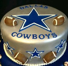Dallas Cowboys Cake I Like The Top Layer Birthday Cowboy
