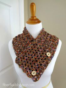 Fiber Flux: Free Crochet Pattern...Flower Patch Button Wrap