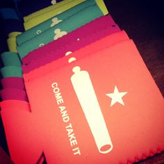 Stop by the @gonzaleschamber for these cool koozies!