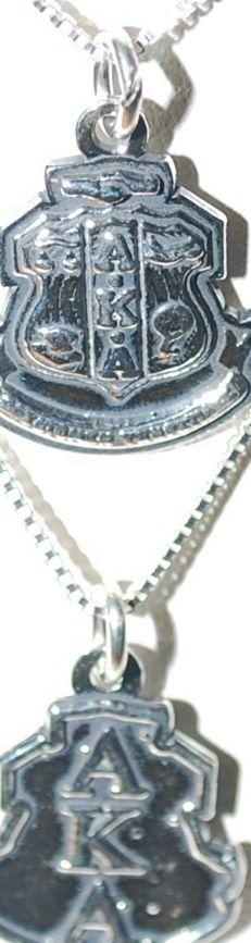 d31321918ec7c Sterling Silver Sorority Charm Alpha Kappa Alpha Sorority