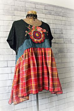 Bohemian Top Shabby Clothing Country Chic Shirt Loose Fit