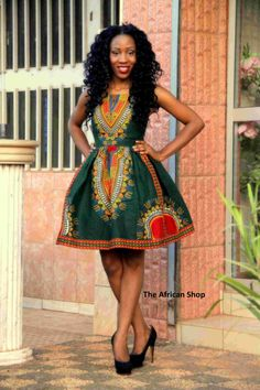 Dashiki boom Dress 2 by THEAFRICANSHOP on Etsy