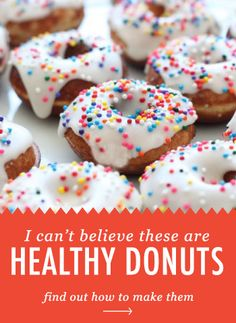 I Can't Believe These Are Healthy Donuts! | Brit + Co.   *I'll have to look at the recipe to see if it is true*