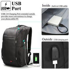 a6730b41399 DTBG Pop USB Charging Function Nylon Bags Waterproof Men s Backpack Laptop  Mochilas Female Travel Backpacks Unisex