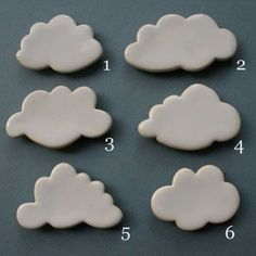 Sweet little cloud magnets. More