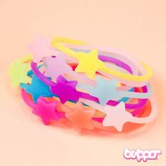 Neon Bracelet Set - Star / 10pcs - Beauty Accessories - Other Products | Blippo.com - Japan & Kawaii Shop