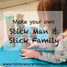 Make your own Stick Man and his Stick Family.  Great motor skills practice for kids with autism or not.