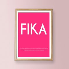 FIKA Luxury poster print by Ilovedesign2010  $30/ oh my word!!!  i love swedish fika!!!! must get this!