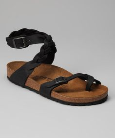 Take a look at this Black Yara Sandal by Tatami by Birkenstock on #zulily today!
