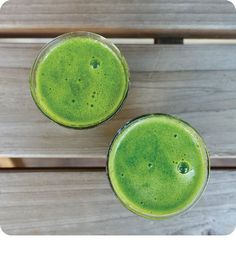 We're on the brink of spring (yay!), but with it brings wonky weather, the onset of coughs and colds, and just generally feeling crabby.  Just the thing to sweep the cobwebs away, we've got a super-charged wellness shot that is packed with so much green power and citrus goodness, it'll rev that tired engine of yours and put a the pep back in your step.